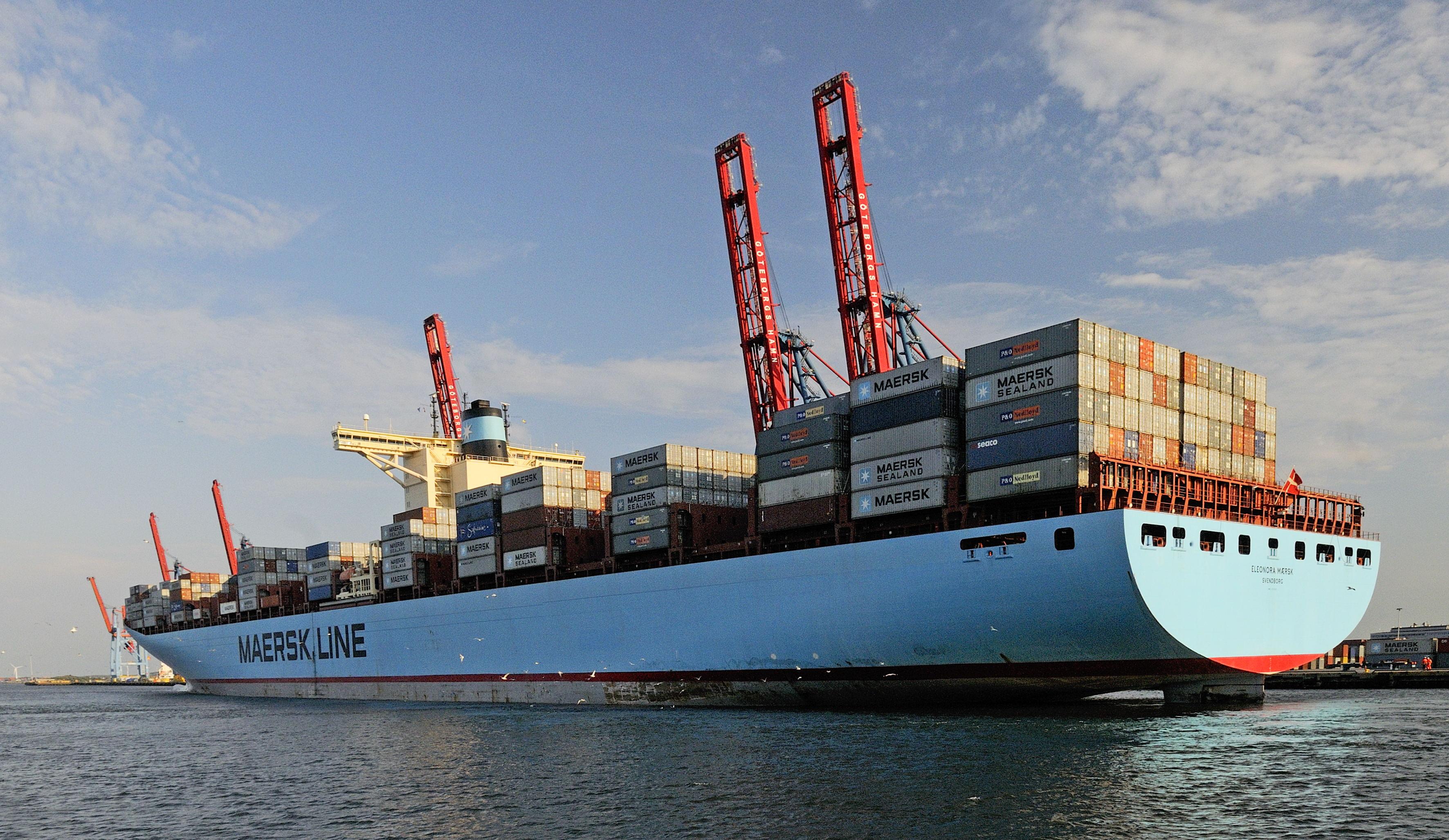 Varldens storsta containerfartyg till goteborg